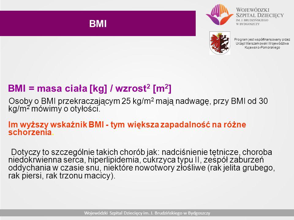 BMI = masa ciała [kg] / wzrost2 [m2]